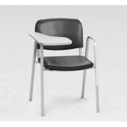 Sofia - Chaise en tissu + tablette renforcée