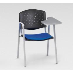 Sofia - Chaise en tissu avec dossier polypropylène + tablette renforcée
