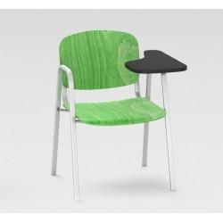 Sofia - Chaise en contre-plaqué + tablette renforcée