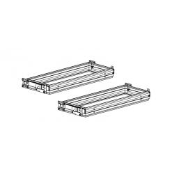 Balkans lot de 2 chassis télescopiques pour armoire